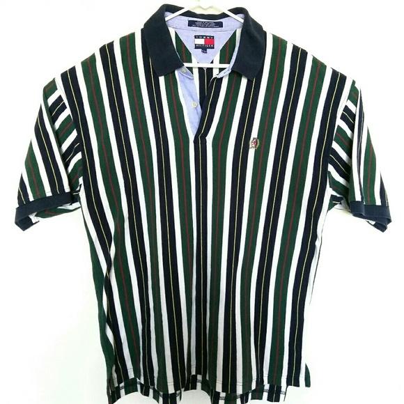7e0a41d8 Vintage Tommy Hilfiger Striped Polo Shirt Mens XL.  M_5ae5eeab8df470181363edd5
